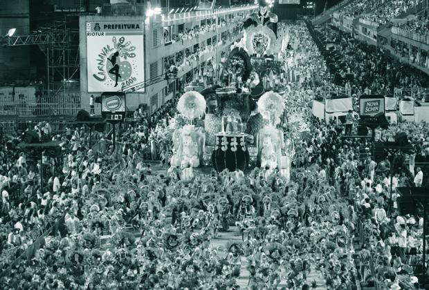 The parade at the sambodrome